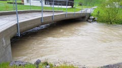 Die Thur bei Unterwasser führt viel Wasser. (Bild: TVO/Tobias Lenherr)