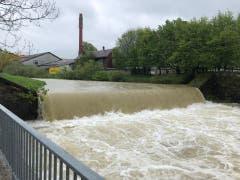 Noch tritt das Wasser in Appenzell nicht über die Ufer. (Bild: FM1Today, Marc Hanimann)