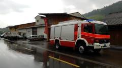 Die Feuerwehren sind im Einsatz. (Bild: TVO/Tobias Lenherr)
