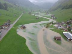 Die Situation in Alt St.Johann aus der Luft (Bild: PD)