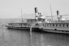 Die «Gallia» (links) und das DS «Gotthard» (1888-1965, vorne rechts). (Bild: Hans Peter Jäger/ Aura)