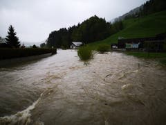 In Alt St.Johann fliesst sehr viel Wasser flussabwärts. (Bild: PD)