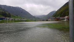 In Alt St.Johann wird heute mit Sicherheit nicht Fussball gespielt. (Bild: TVO/Tobias Lenherr)