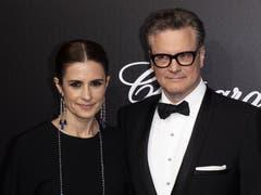 Colin Firth (rechts) und seine Frau Livia Firth. > Trophee Chopard Dinner EPA/JEROME ROUX