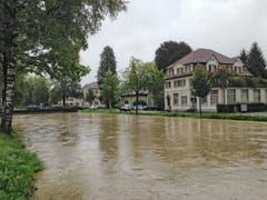 Binnenkanal mitten in Widnau. (Bild: Toni Sieber)