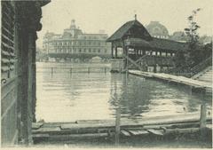 Kapellbrücke beim Kapellplatz. (Bild: Staatsarchiv Luzern/ AKT 47_2565.1e)