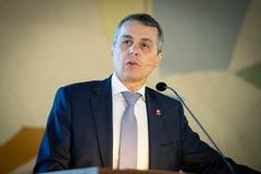 Bundesrat Ignazio Cassis hält die Festrede. (Bild: Ralph Ribi)