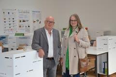 Bei der Eröffnung mit dabei waren auch Peter Baumann und Ilona Cortese-Keiser.