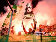 Die St. Galler Fans verabschiedeten «Quillo» Barnetta. Sie sind das drittbeste Publikum der Super League (Bild: KEYSTONE)