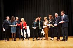 Alle Kandidierenden für den Nationalrat zusammen mit Bundesrätin Viola Amherd. (Bild: Jakob Ineichen, Sempach, 28. Mai 2019)