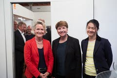 Andrea Gmür, Viola Amherd und Diel Tatjana Schmid Meyer (von links). (Bild: Jakob Ineichen, Sempach, 28. Mai 2019)