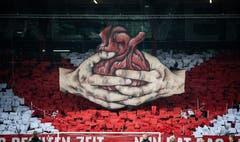 Die Berliner Fans hievten vor dem Relegationsspiel diese Choreo. (Bild: freshfocus)