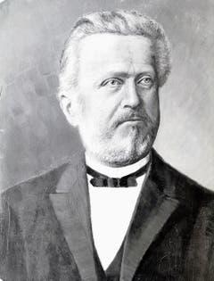 Dieses Porträt von Prof. Dr. Simon Schwendener hing im alten Sekundarschulhaus.