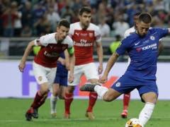 Eden Hazard (am Ball rechts) war Doppeltorschütze für Chelsea (Bild: KEYSTONE/AP/LUCA BRUNO)