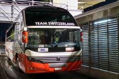 Übrigens: Die SCK-Spieler reisten im Nati-Bus nach Rapperswil. (Bild: Marc Schumacher / Freshfocus, Rapperswil, 3. Mai 2019)