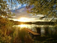 Wunderschöner Sonnenuntergang beim Soppensee. (Bild: Urs Gutfleisch, Buttisholz, 30. Mai 2019)