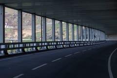Blick auf einen Teil der Gotthard-Panoramastrasse. (Bild: KEYSTONE/Pablo Gianinazzi, 30. Mai 2019)