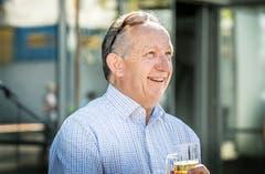 Amriswil TG - Verabschiedung von Stadtpräsident Martin Salvisberg, Feierabendbier mit der Bevölkerung.