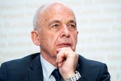 Ueli Maurer (SVP)Der Bundespräsident will Nachverhandlungen mit der EU. Das sagte er schon zu Jahresbeginn. Auch am Swiss Economic Forum betonte er, das Rahmenabkommen habe noch nicht die nötige Qualität. (Bild: Peter Schneider/Keystone)