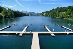 Der Start bei der Rotsee-Badi. (Bild: Urs Lindt/Freshfocus, Luzern, 31. Mai 2019)