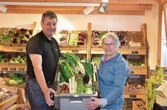 Daniel und Dorli Seifert betreiben einen Hofladen und liefern sogar nach Hause. (Bild: Bilder: Jessica Nigg)
