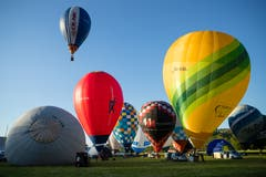 Start an der Heissluftballon Schweizermeisterschaft am Freitag, 31. Mai 2019 in Willisau. (Bild: Philipp Schmidli)