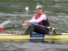 Nico Stahlberg vertritt die Schweiz im Skiff (Bild: KEYSTONE/URS FLUEELER)