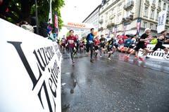 Impressionen vom Stadtlauf Luzern 2019. (Bild: Roger Grütter, 4. Mai 2019)