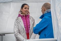 Auch Ex-Miss-Schweiz Bianca Sissing besucht den Luzerner Stadtlauf. (Bild: Nadia Schärli, 4. Mai 2019)