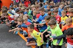 Hunderte von Kinder, die den Startschuss kaum erwarten konnten. (Bild: swissimage/Andy Mettler, 4. Mai 2019)