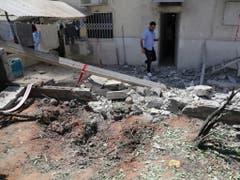 Das Haus des getöteten israelischen Mannes aus Aschkelon nach dem Raketenangriff aus dem Gazastreifen. (Bild: Keystone/EPA/ABIR SULTAN)