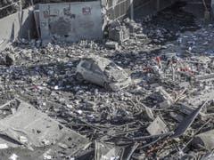 Ein durch einen israelischen Luftangriff zerstörtes Haus in Gaza City. (Bild: Keystone/EPA/MOHAMMED SABER)