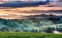 Sonnenaufgang beim Steblen Herisau. (Bild: Luciano Pau)
