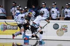 Streethockey: NLA-Playoff-Final zwischen Oberwil Rebells gegen Grenchen in der Sika Rebells Arena in Zug. (Bild: Maria Schmid, Zug, 5. Mai 2019 )
