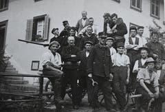 Eine Feuerwehrübung. (Bild: Archiv Jost Troxler/ Gemeinde Mauensee)