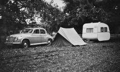 Der Campingplatz Waldheim. (Bild: Archiv Christian Koch/ Gemeinde Mauensee)