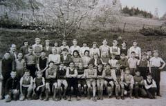 Eine Schulklasse in Mauensee. (Bild: Archiv Antoinette Frei/ Gemeinde Mauensee)