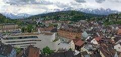 Blick von der Feldkircher Schattenburg zum Alpstein. (Bild: Toni Sieber)