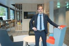 Direktor Philipp Hächler in der Lobby. (Bild: Boris Bürgisser, Kriens, 8. Mai 2019)