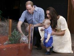 Die Familie auf Australienreise 2014. (Bild: AP Photo/David Gray, Pool)