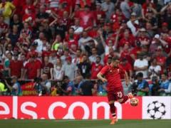 Konnte sein Können nur beim Aufwärmen zeigen: Xherdan Shaqiri kam beim Final im Metropolitano nicht zum Einsatz, gewann aber nach 2013 mit Bayern München als erster Schweizer zum zweiten Mal die Champions League (Bild: KEYSTONE/AP/FRANCISCO SECO)