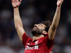 Genau umgekehrte Gefühlslage: Liverpools Matchwinner und Pechvogel des letztjährigen Finals Mohamed Salah (Bild: KEYSTONE/AP/MANU FERNANDEZ)