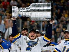 Jubel bei Alexander Steen und St. Louis: Die Blues gewinnen erstmals den Stanley Cup (Bild: KEYSTONE/AP/MICHAEL DWYER)