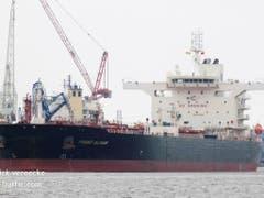 Eine Aufnahme der «Front Altair». Der Tanker fährt unter der Flagge der Marschallinseln. Er war nach Angaben «Marine Traffic» auf dem Weg von den Vereinigten Arabischen Emiraten (VAE) nach Taiwan. (Bild: Keystone/AP Marine Traffic/PATRICK VEREECKE)
