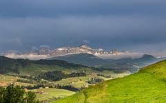 Der Säntis bei klarer Sicht vom Rechberg aus fotografiert. (Bild: Luciano Pau)