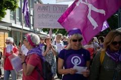 Frauenstreik in Wil. (Bild: Benjamin Manser)