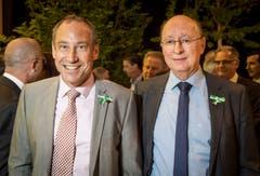 IHK-Präsident Christian Neuweiler mit IHK-Geschäftsführer Peter Maag an der Partizipanten-Versammlung 2019 in der Bodensee-Arena in Kreuzlingen.