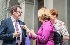 Diskussionen mit Regierungsrat Jakob Stark. (Bild: Andrea Stalder)