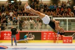 Wie eine Kerze und mit voller Körperspannung in der Luft: Eddy Yusof. (Bild: Marc Schumacher/freshfocus, Aarau, 15. Juni 2019)
