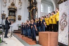 Gesang war heute Trumpf in Hitzkirch. (Bild: Nadia Schärli/Luzerner Zeitung, Hitzkirch, 15. Juni 2019)